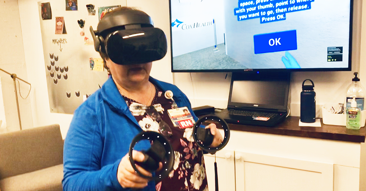 Self Interactive creates virtual reality training for CoxHealth